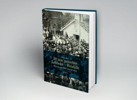 Ontwerp + opmaak boek parochie Lebbeke-Heizijde door Graffito nv Gent