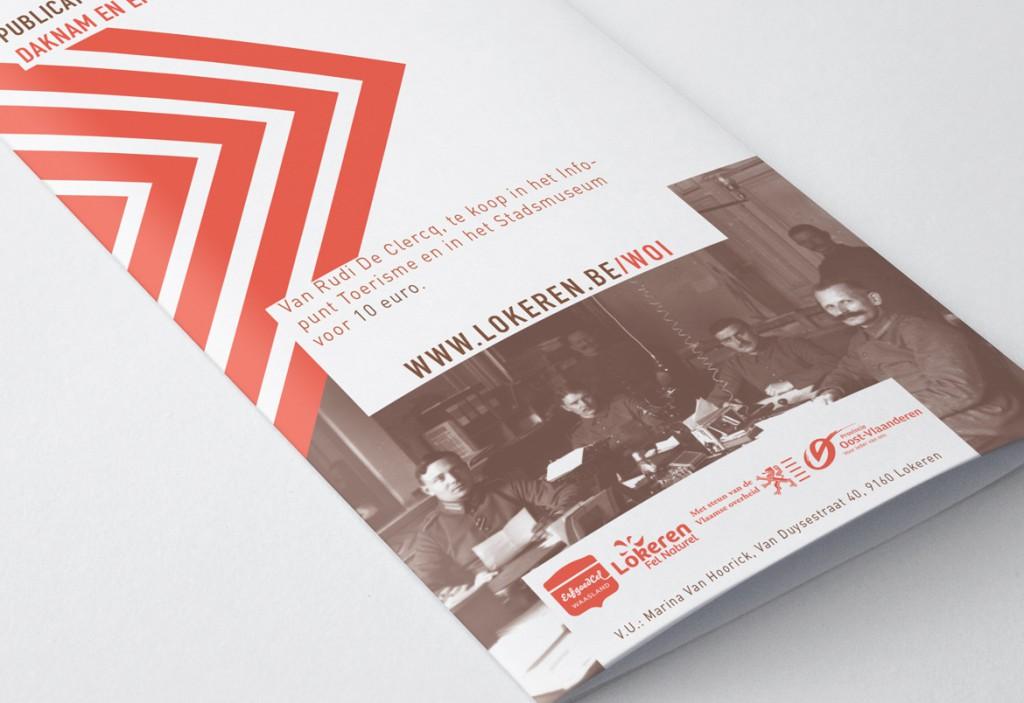 folder ontwerp door Graffito voor tentoonstelling 'Terug Thuis als de bladeren vallen'
