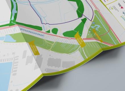 Agentschap voor Natuur en Bos folder en kaart Kallo vormgegeven door Graffito Gent