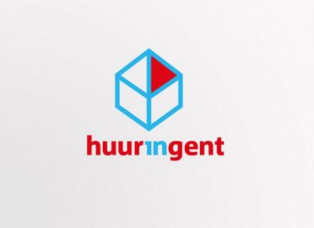 Ontwerp logo & huisstijl HuurInGent + design en opmaak folders, flyers en affiches door Graffito