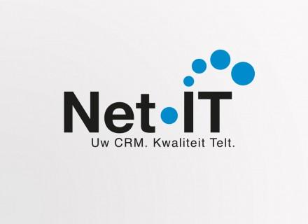 Ontwerp + opmaak logo, huisstijl, folders, handelsdrukwerk enz… voor Net IT door Graffito nv uit Gent