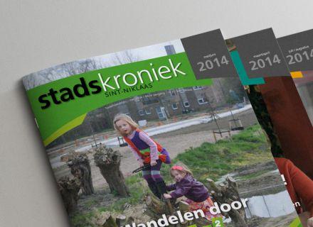 Ontwerp en opmaak van Stadskroniek - maandelijks stadsmagazine Sint-Niklaas - door Graffito Gent