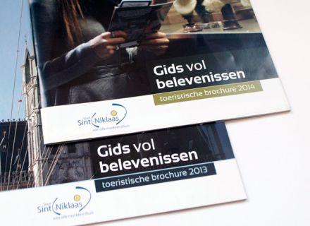 Gids vol Belevenissen 2014 - Toeristische gids Sint-Niklaas - vormgeving en opmaak Graffito nv Gent