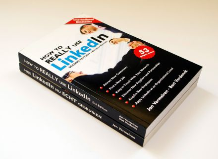 How To Really Use LinkedIn - cover design by Graffito nv