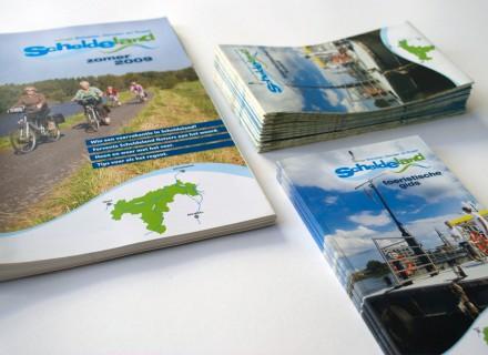 Scheldeland Toeristische Gids + kaart - vormgeving Graffito Gent