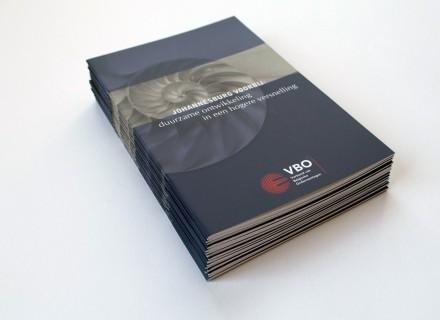 VBO-FEB vomrgeving en opmaak brochure Duurzame Ontwikkeling door Graffito Gent - covers