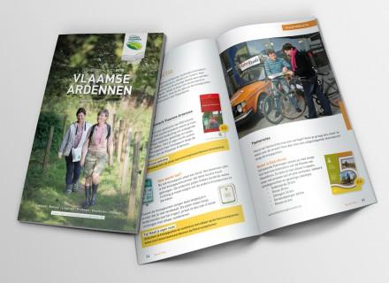 Toeristische Gids Vlaamse Ardennen 2015 - ontwerp en grafische vormgeving door Graffito nv Gent