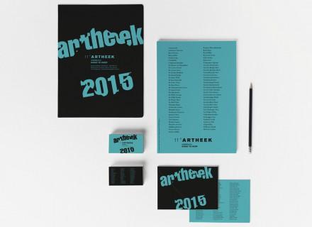 Kunstuitleenproject Artheek Lokeren 2015 - grafisch ontwerp door Graffito