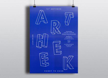 Affiche Artheek 2016 - Lokeren - huisstijl, grafisch ontwerp en opmaak door Graffito nv
