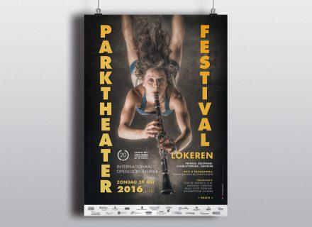 Parktheaterfestival 2016 affiche door Graffito nv