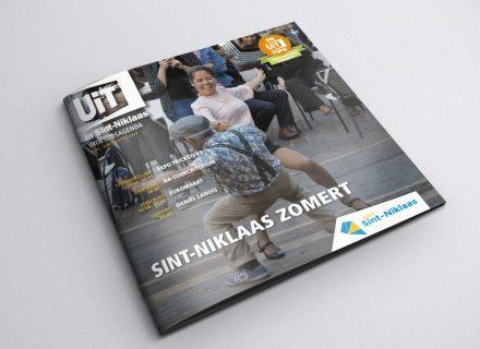 Uit in Sint-Niklaas magazine vormgeving en realisatie door Graffito