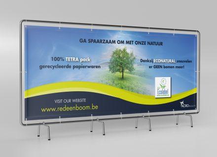 commerciële banner die Graffito maakte voor AcroProducts