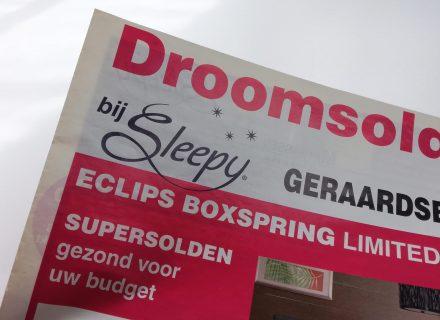 Sleepy promotioneel drukwerk realisatie door Graffito - reclamekrant promokrant