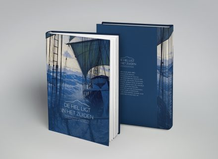 Ontwerp grafische vormgeving lay-out boek Kaap Hoorn door Graffito