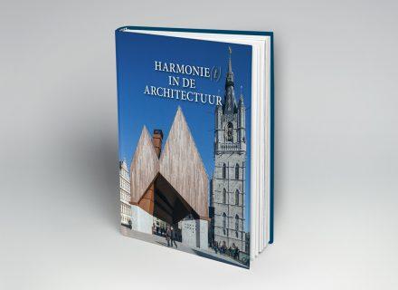 Boek 'Harmonie(t) in de architectuur' (Provincie Oost-Vlaanderen) vormgeving en druk Graffito Gent 2018