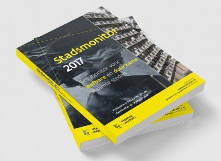 Stadsmonitor 2017 - grafische opmaak en realisatie boek, ePub, iBook en PDF door Graffito Gent 2018